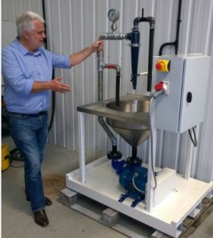Grinding Solutions' Hydrocyclone test rig