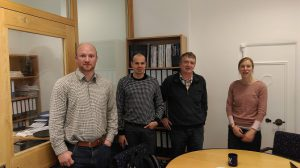 Francois Lepoint (2nd left) and Benoit Clermont (3rd left) at GSL's offices